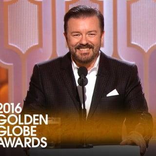 Ricky Gervais med stand up på Golden Globe 2016